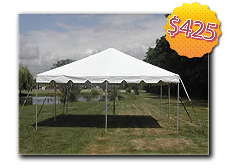 Includes (1) 20x20 Frame Tent. (4) 60  Round Tables for seating (32) Standard Grey Folding Chairs and (1) Banquet Table (Chair upgrade options and side ...  sc 1 th 193 & Adventure Party Rentals